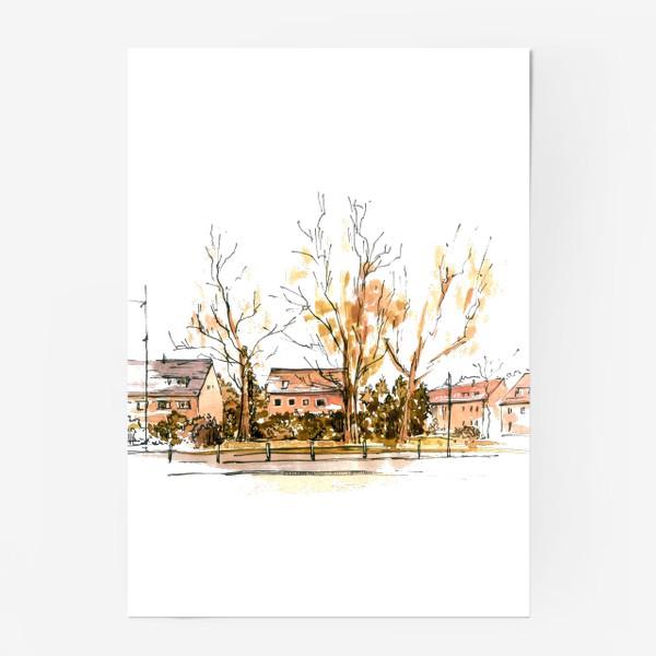 Постер «Autumn street»