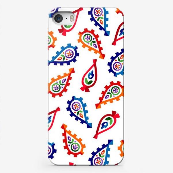 Чехол iPhone «Персидский огурец в 3d, он же Бута, он же Пейсли»