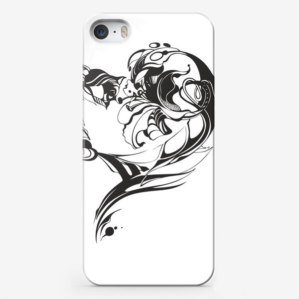 Чехол iPhone «Лилия и роза»
