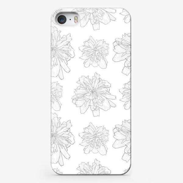 Чехол iPhone «пион крупный цветок»