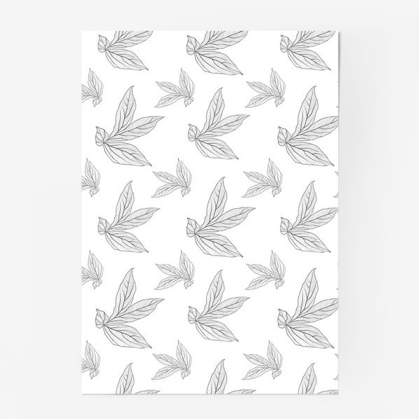 Постер «листья пиона »