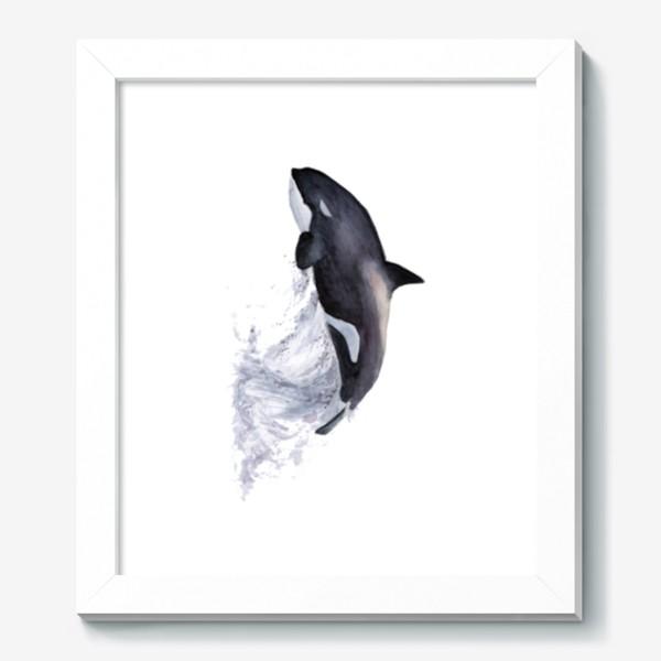 Картина «Рыба Косатка выпрыгивает из воды»