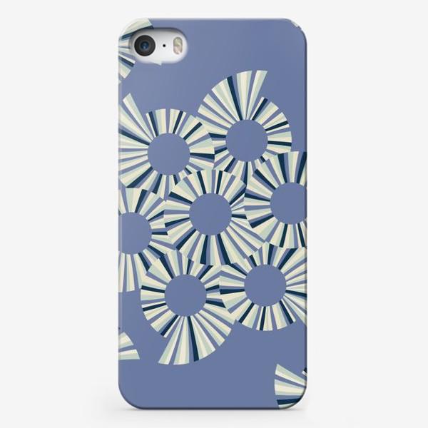 Чехол iPhone «Абстрактные круги на пыльно сиреневом фоне»