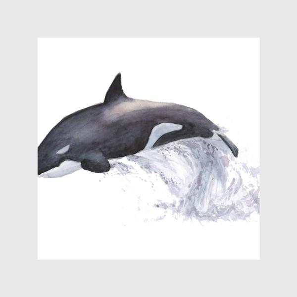 Скатерть «Рыба Косатка выпрыгивает из воды»