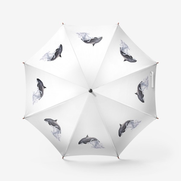 Зонт «Рыба Косатка выпрыгивает из воды»