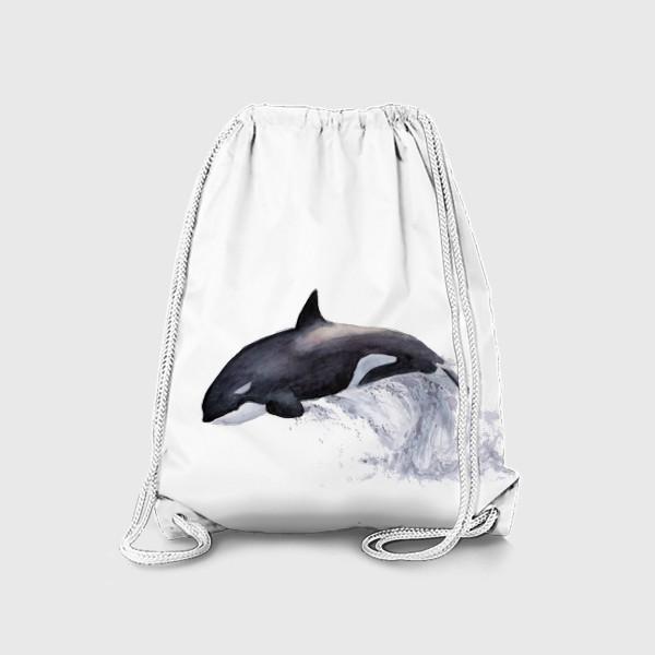 Рюкзак «Рыба Косатка выпрыгивает из воды»