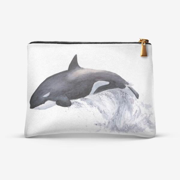Косметичка «Рыба Косатка выпрыгивает из воды»