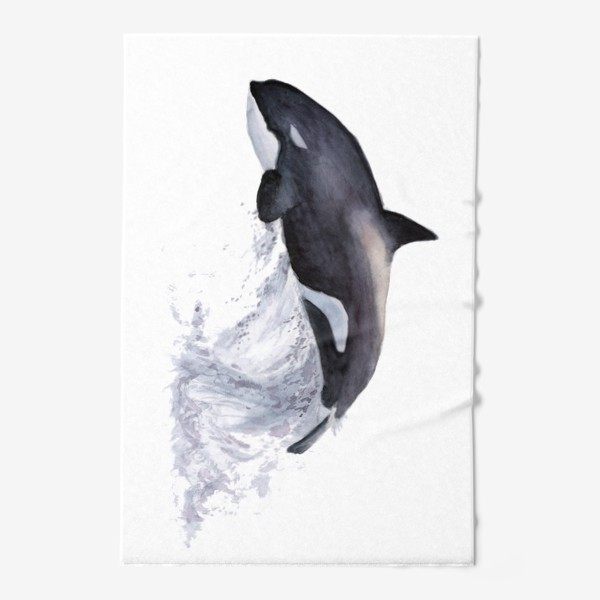 Полотенце «Рыба Косатка выпрыгивает из воды»