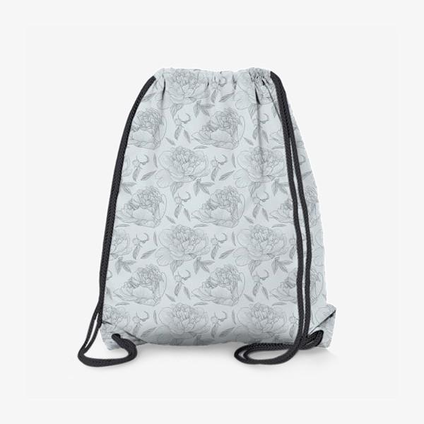 Рюкзак «пион голубой фон»