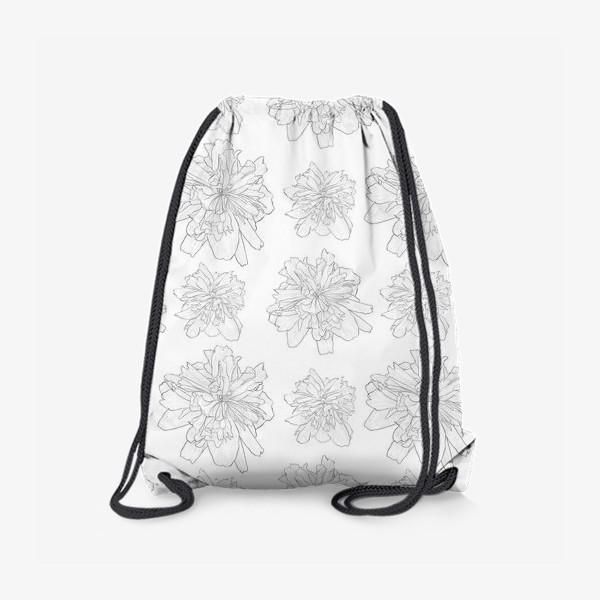 Рюкзак «пион крупный цветок»