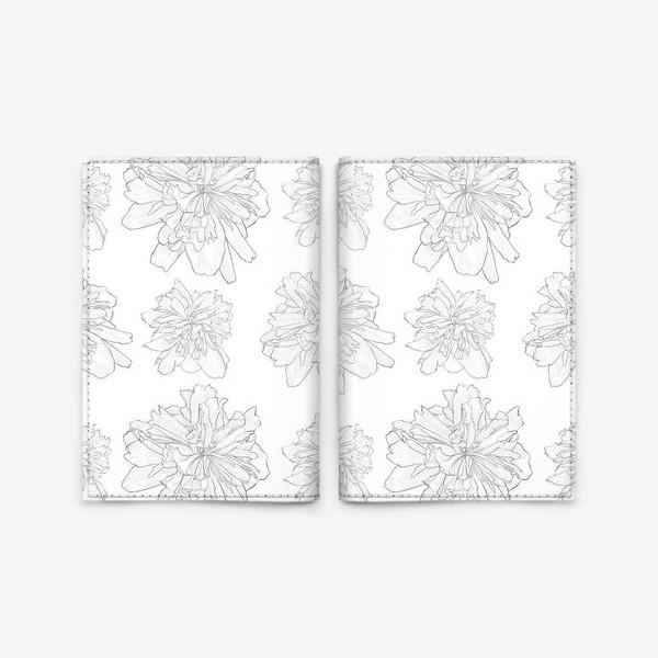 Обложка для паспорта «пион крупный цветок»