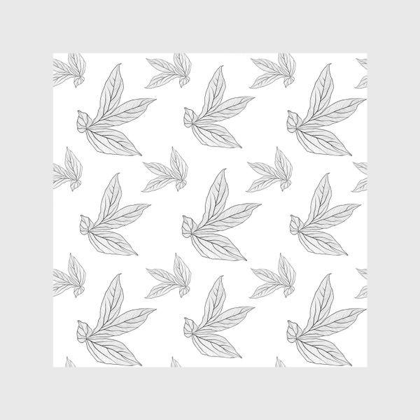 Шторы «листья пиона »