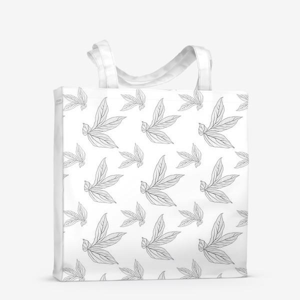 Сумка-шоппер «листья пиона »