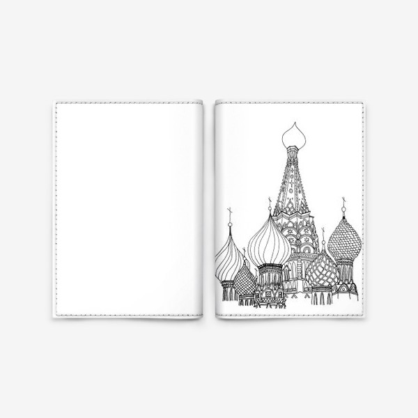 Обложка для паспорта «St Basil's Cathedral»