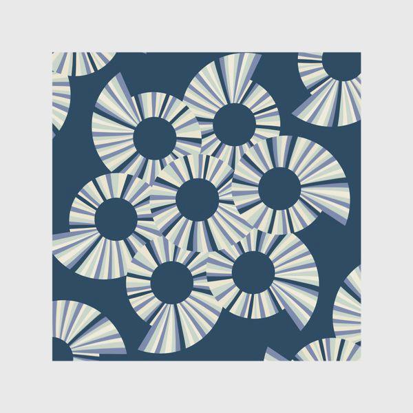 Скатерть «Абстрактные круги на темно синем фоне»