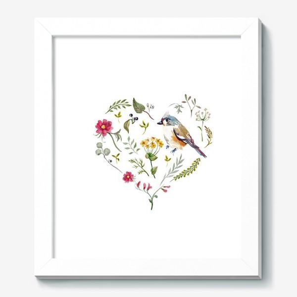 Картина «Птица любви в сердце»