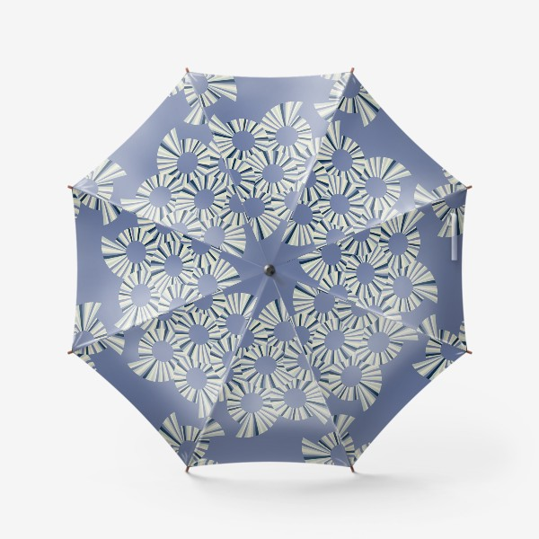 Зонт «Абстрактные круги на пыльно сиреневом фоне»