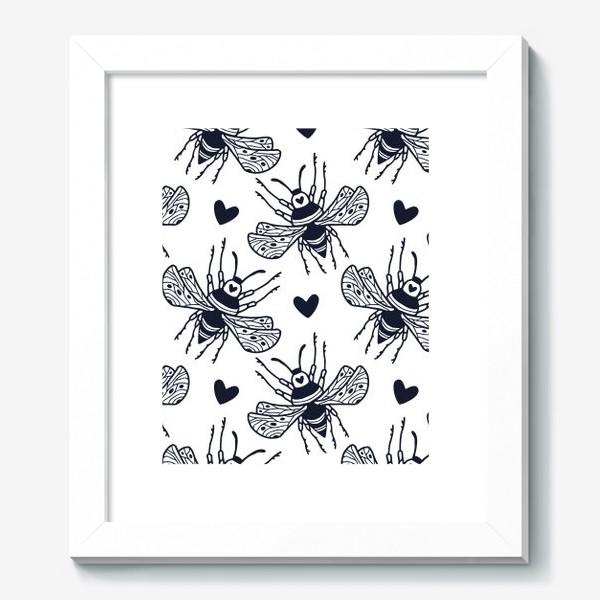 Картина «Шмели с сердечками»