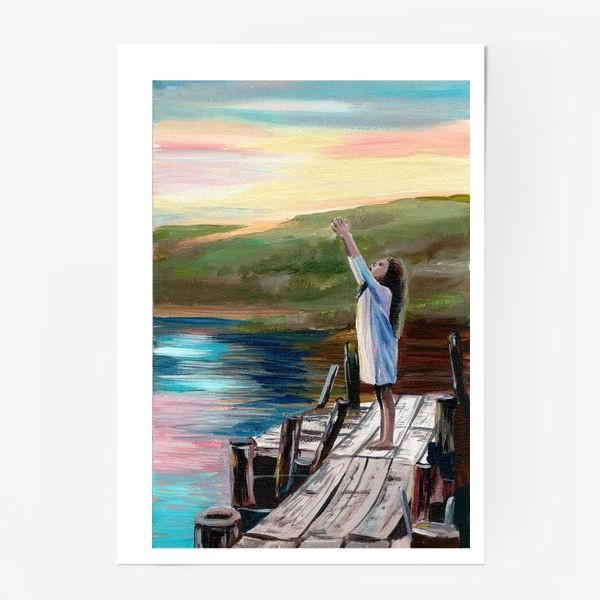Постер «Девочка на мосту»
