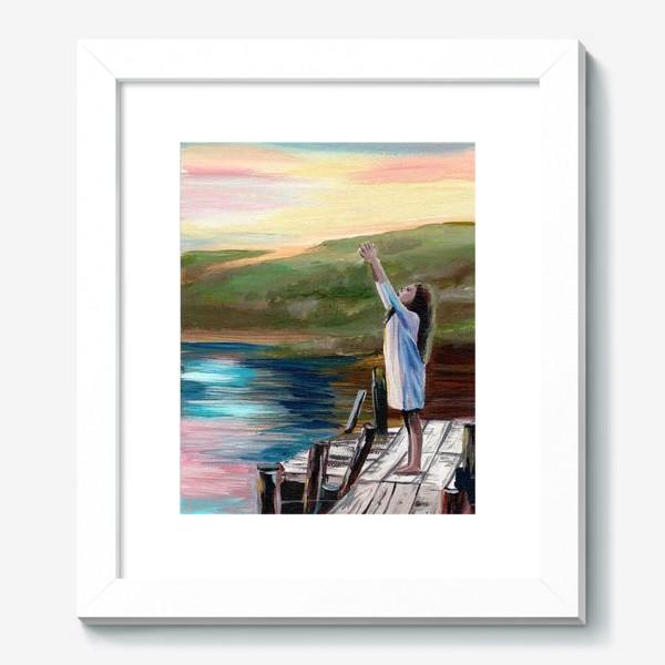 Картина «Девочка на мосту»