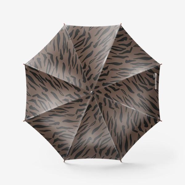 Зонт «Тигровый паттерн кофейного оттенка»