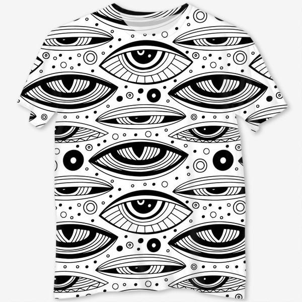 Футболка с полной запечаткой «Магические глаза»