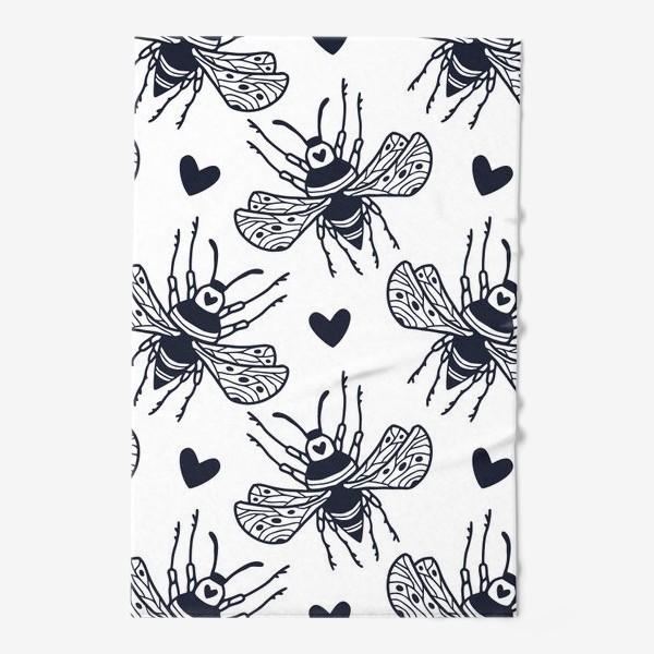 Полотенце «Шмели с сердечками»