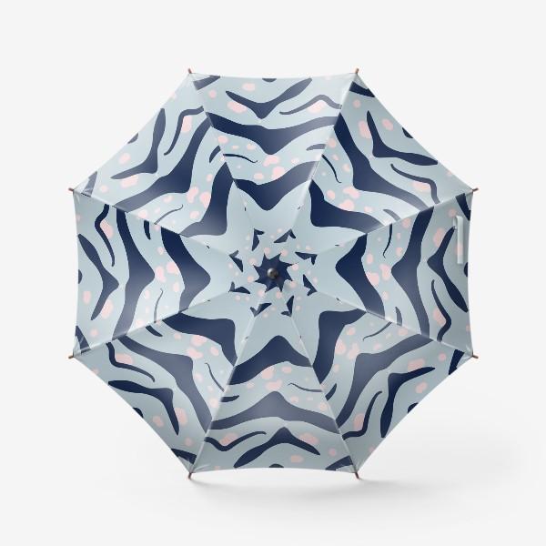 Зонт «Голубой тигровый принт. Символ 2022 года»