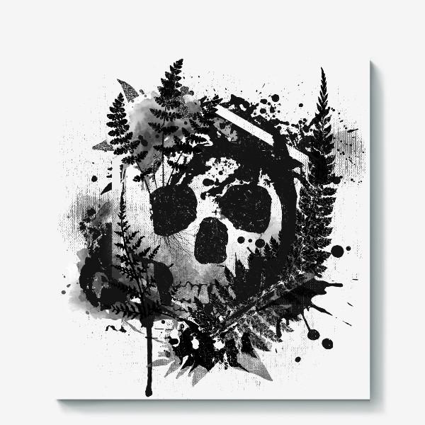 Холст «Fern and Skull»
