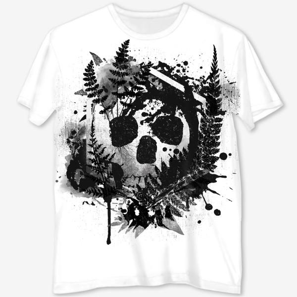 Футболка с полной запечаткой «Fern and Skull»