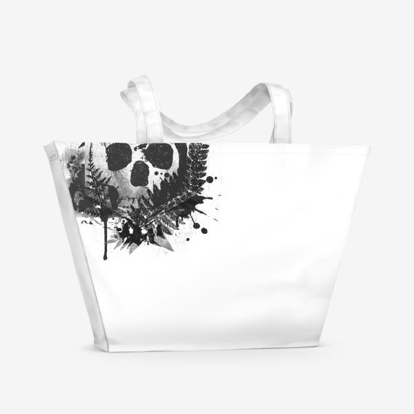 Пляжная сумка «Fern and Skull»