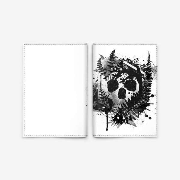 Обложка для паспорта «Fern and Skull»