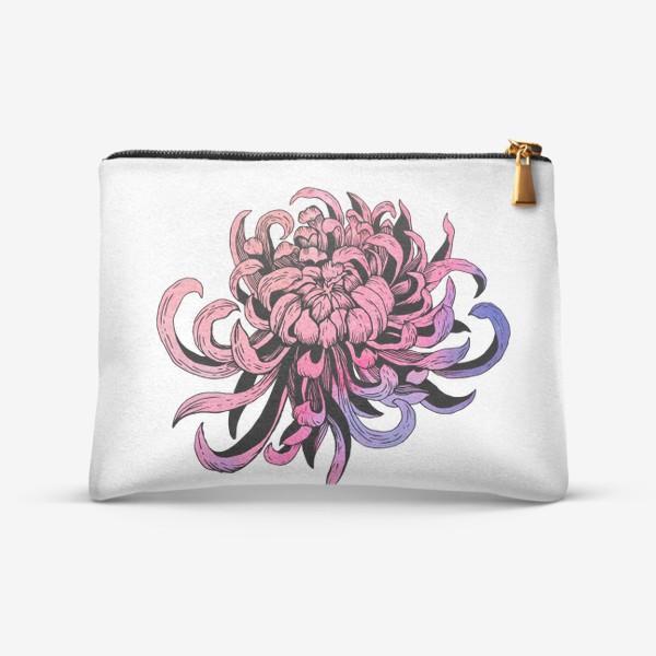 Косметичка «Цветок розовая хризантема»