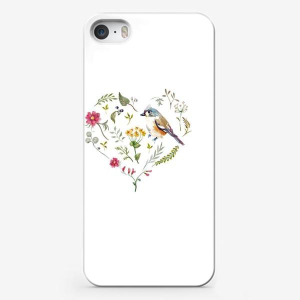 Чехол iPhone «Птица любви в сердце»