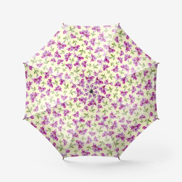 Зонт «Цветок Магнолии на светло-желтом фоне»
