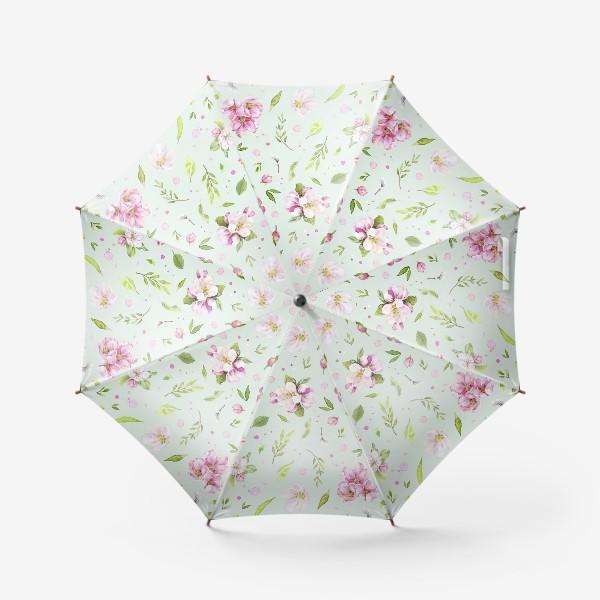 Зонт «Яблони в цвету принт 2»