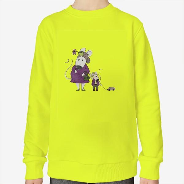 Свитшот «буду мамой Х2 фиолетовый»
