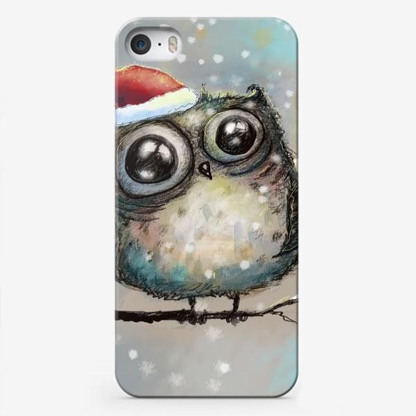 Чехол iPhone «Новогодняя кофейная сова»