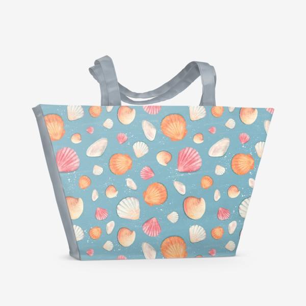 Пляжная сумка «Нежные морские ракушки»