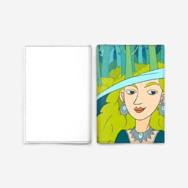 Обложка для паспорта «Девушка и лес»