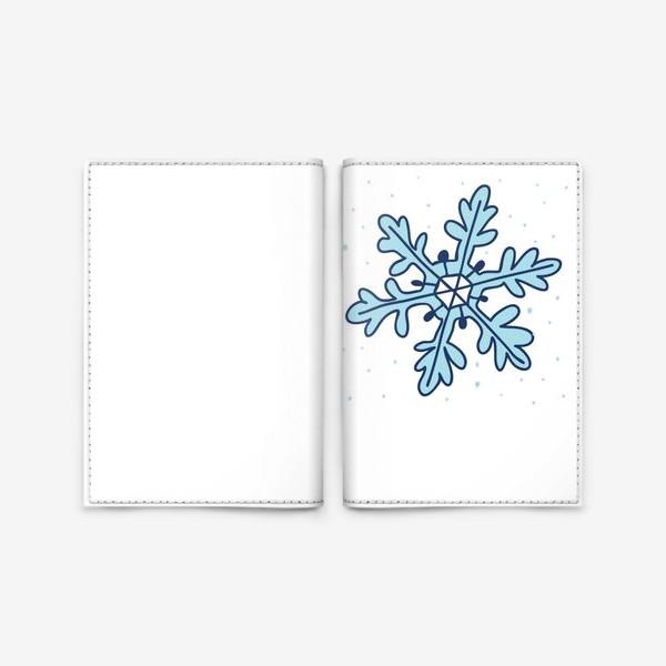 Обложка для паспорта «Снежинка»