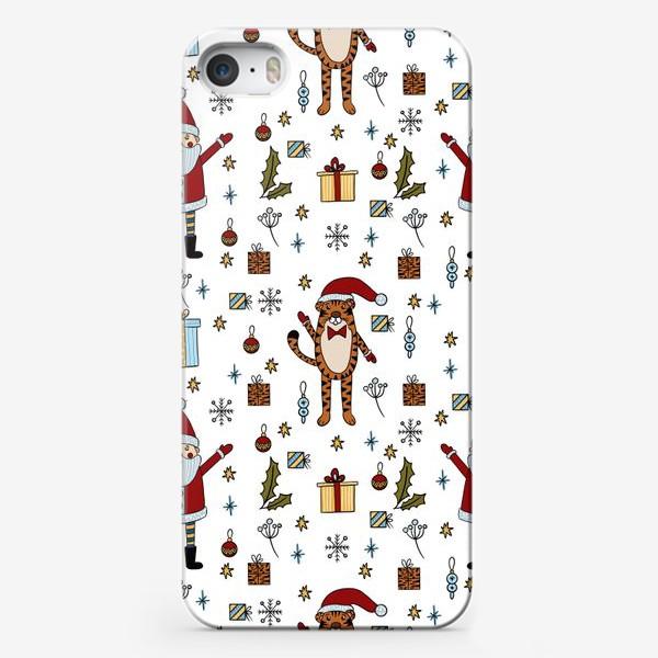 Чехол iPhone «новый год тигра, с новым годом»