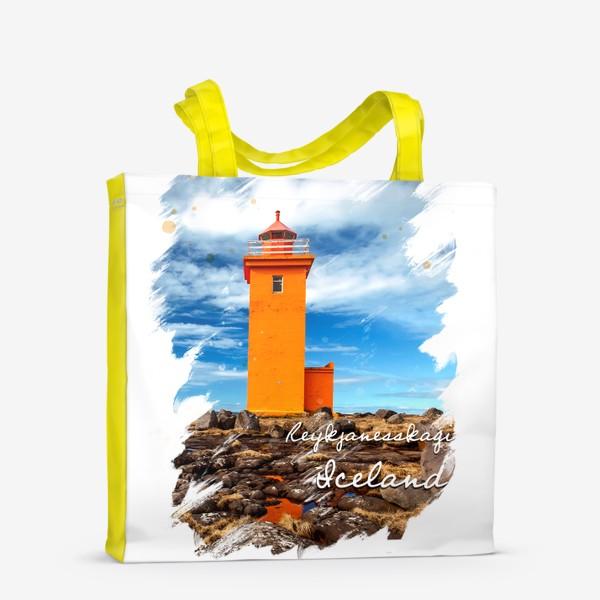 Сумка-шоппер «Исландия. Маяк. Полуостров Рейкьянес.»