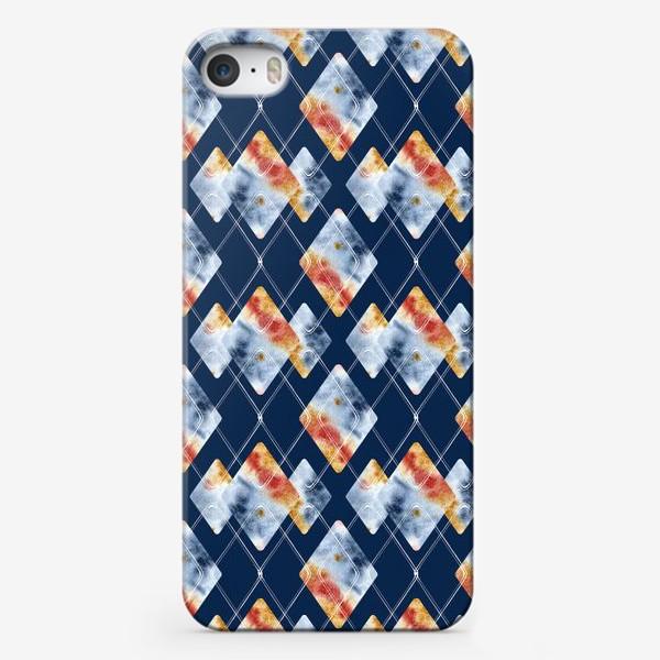 Чехол iPhone «Паттерн. Осенняя ночь. Акварель и графика.»