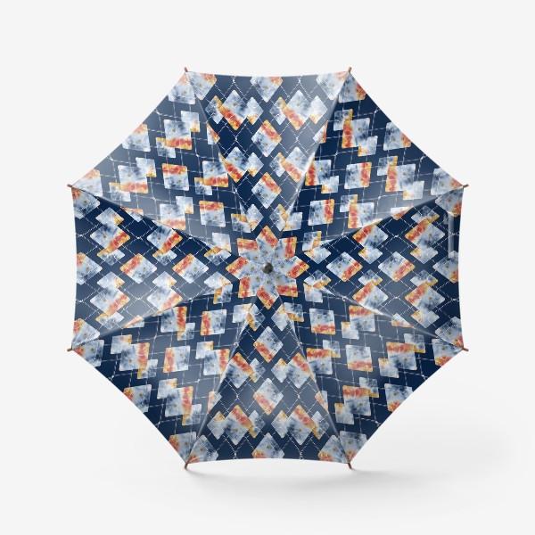 Зонт «Паттерн. Осенняя ночь. Акварель и графика.»