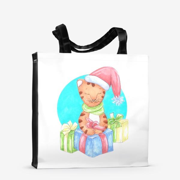 Сумка-шоппер «Тигренок с подарками»