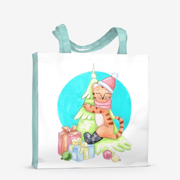 Сумка-шоппер «Тигрёнок на ёлочке»