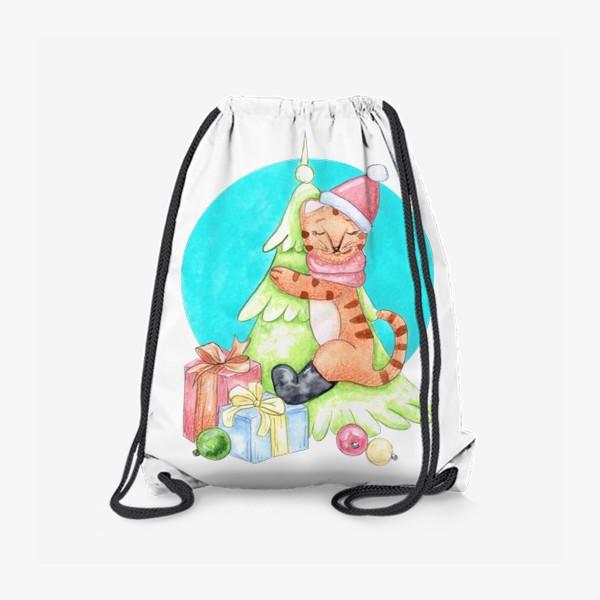 Рюкзак «Тигрёнок на ёлочке»