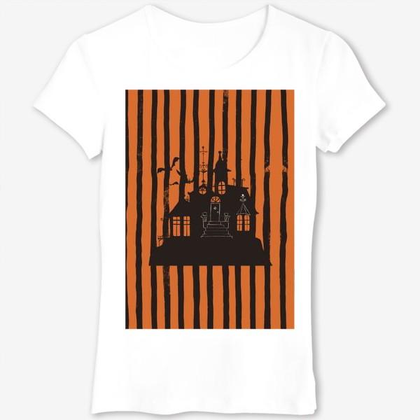 Футболка «Хэллоуин, замок»