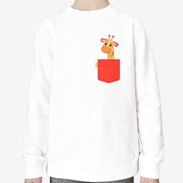 Свитшот «Красный карман с жирофом»